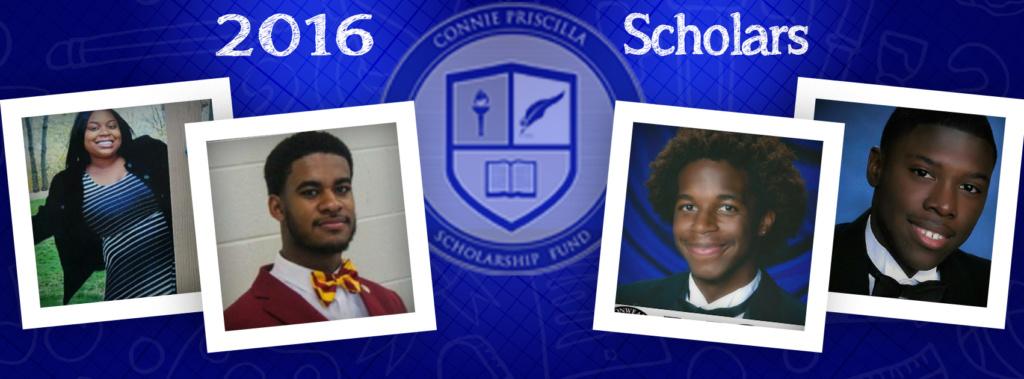 2016 Connie Priscilla Scholars