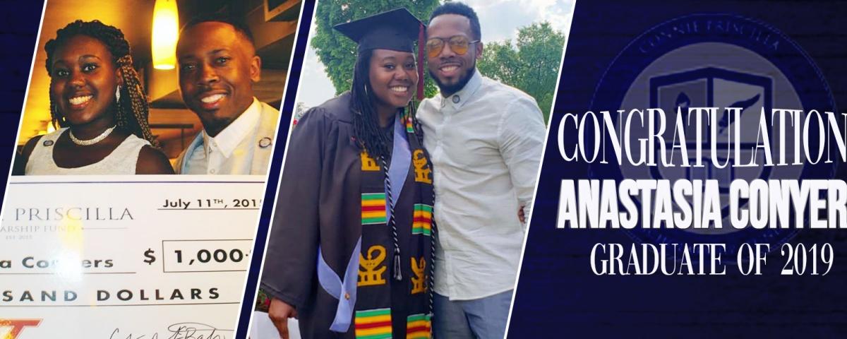 Congratulations to Anastasia Conyers Graduate of 2019